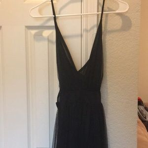 Sheer Black Coverup Dress